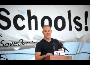 "Matt Damon to Teachers: ""We love you, we thank you and we will always have your back."""